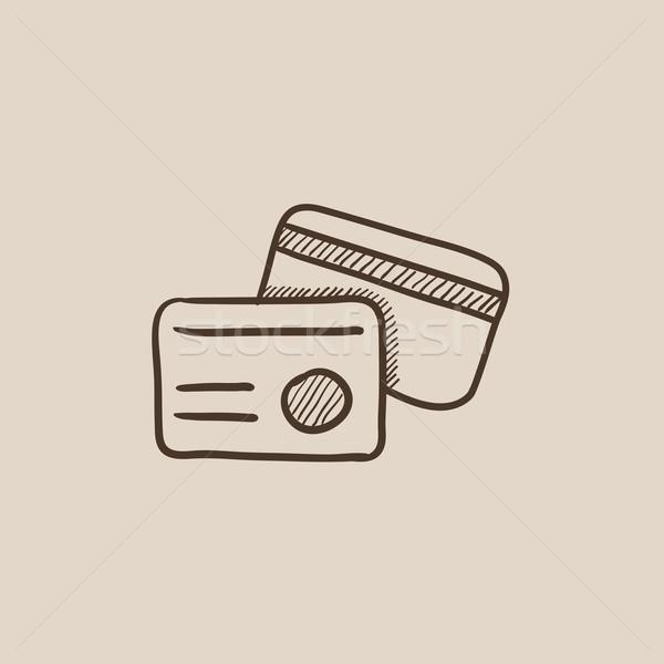 Identificación tarjeta boceto icono web móviles Foto stock © RAStudio