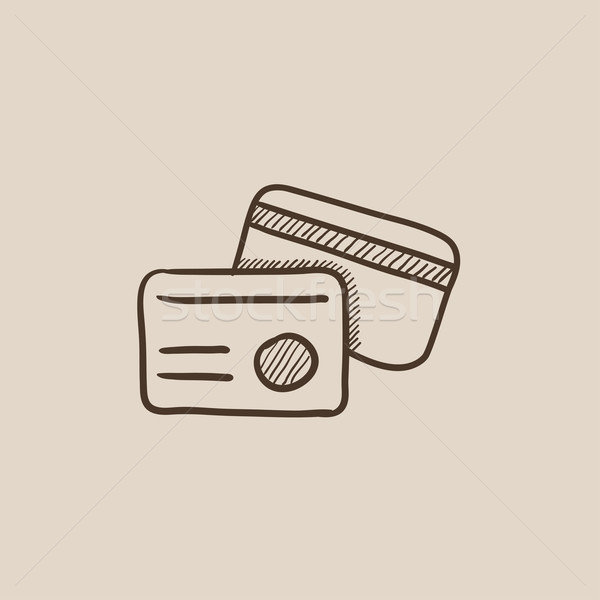 Identification card sketch icon. Stock photo © RAStudio