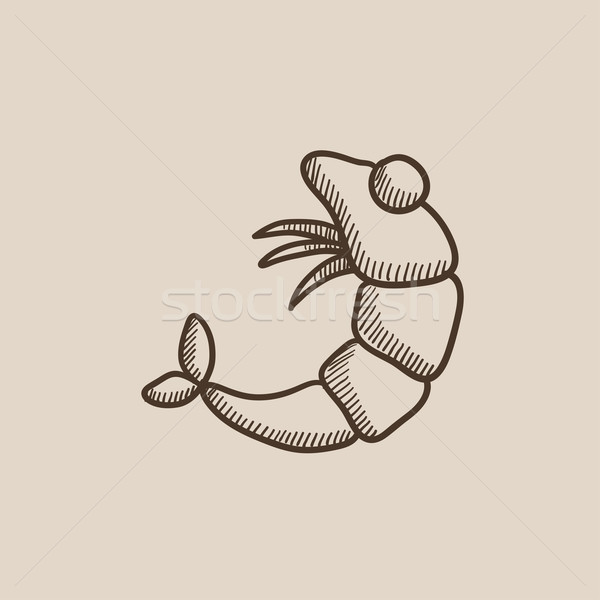 Shrimp sketch icon. Stock photo © RAStudio