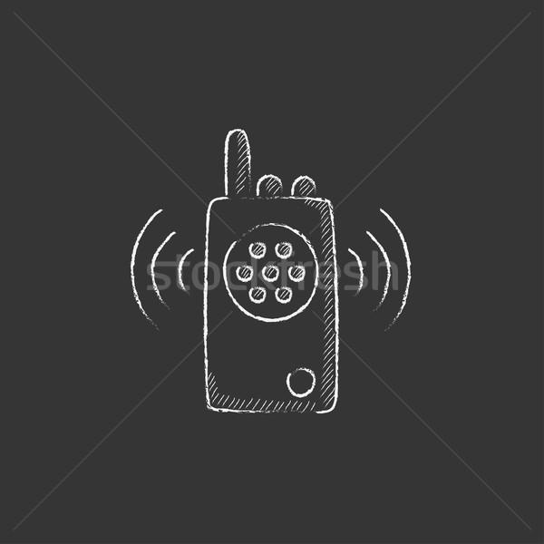 Radio set. Drawn in chalk icon. Stock photo © RAStudio