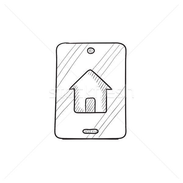 собственности поиск мобильных эскиз икона Сток-фото © RAStudio