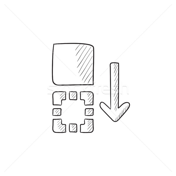 Movement of files sketch icon. Stock photo © RAStudio
