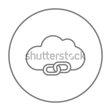 Stock photo: Cloud computing sketch icon.