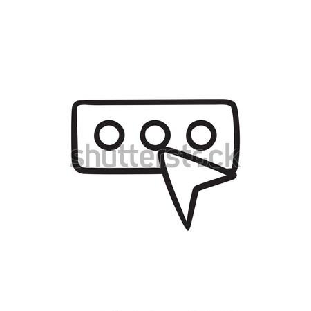 Wachtwoord schets icon vector geïsoleerd Stockfoto © RAStudio