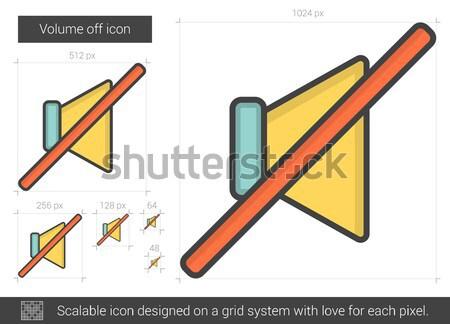 Volume off line icon. Stock photo © RAStudio