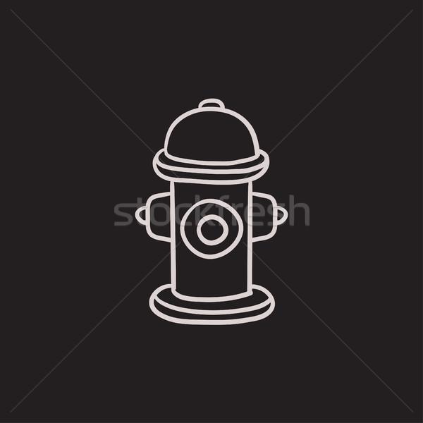 Fire hydrant  sketch icon. Stock photo © RAStudio