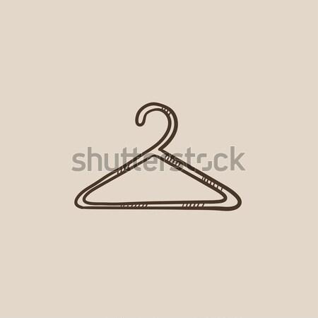ハンガー スケッチ アイコン ベクトル 孤立した 手描き ストックフォト © RAStudio