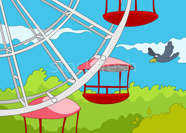 Cartoon background of amusement park. Stock photo © RAStudio