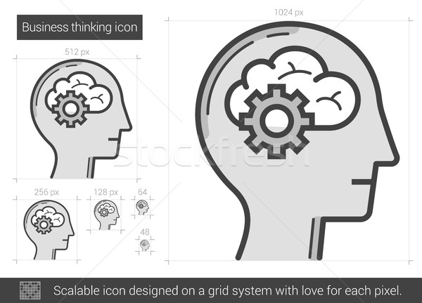 Stock photo: Business thinking line icon.