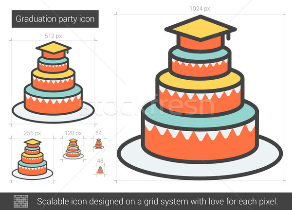 Graduation party line icon. Stock photo © RAStudio