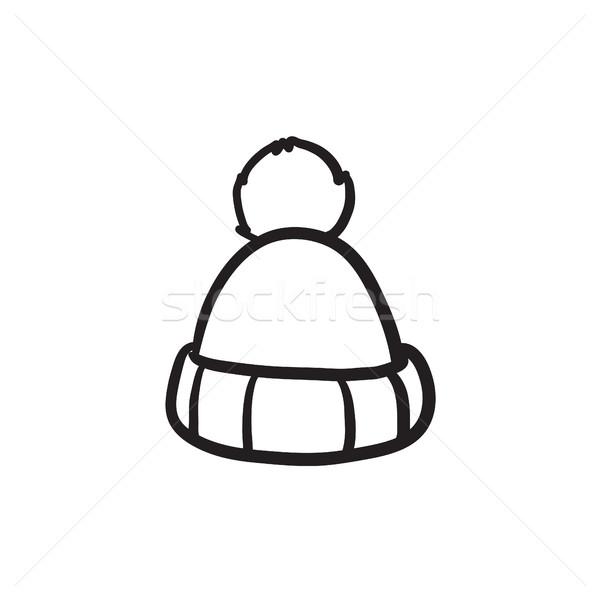Knitted hat sketch icon. Stock photo © RAStudio