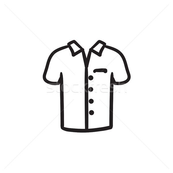 Polo shirt sketch icon. Stock photo © RAStudio
