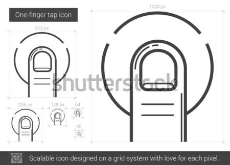 One-finger tap line icon. Stock photo © RAStudio