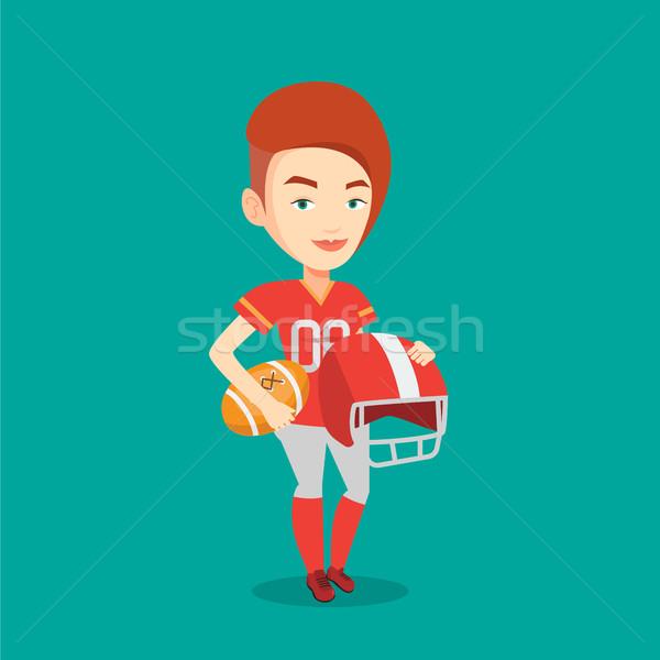 Rugby player vector illustration. Stock photo © RAStudio