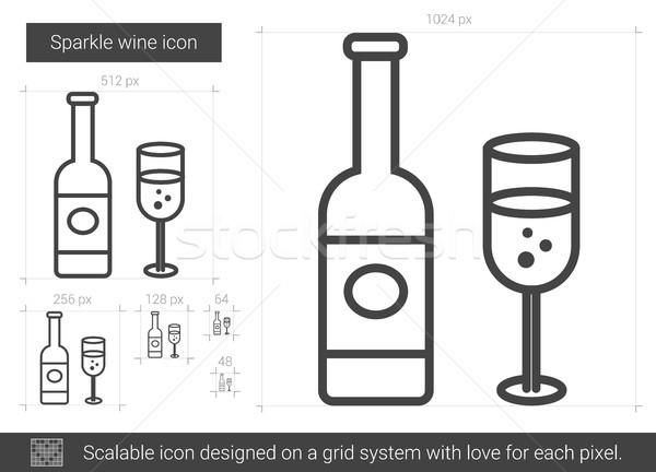 Sparkle wine line icon. Stock photo © RAStudio
