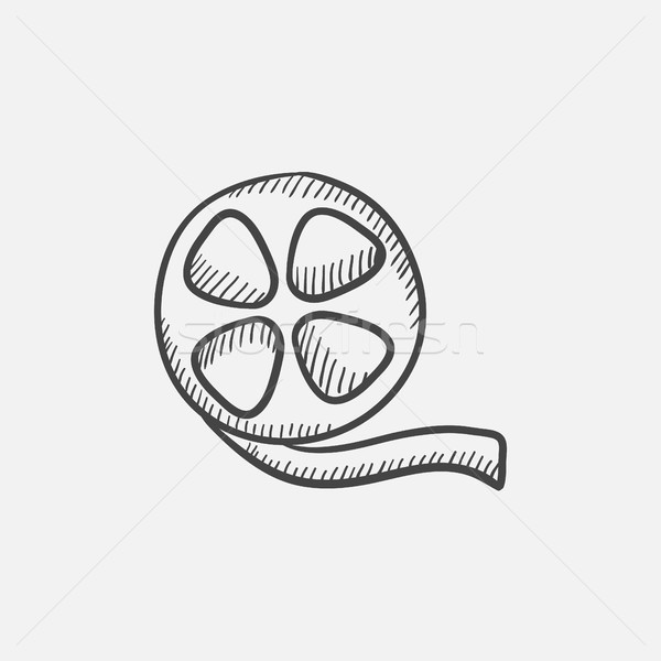 Film reel sketch icon. Stock photo © RAStudio