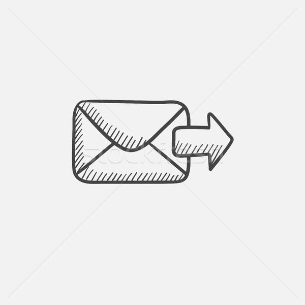 E-mail kroki ikon web hareketli Stok fotoğraf © RAStudio