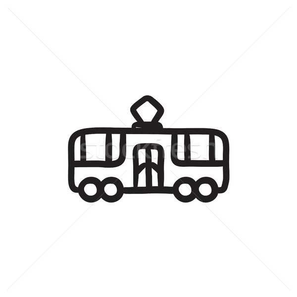 Tram sketch icon. Stock photo © RAStudio