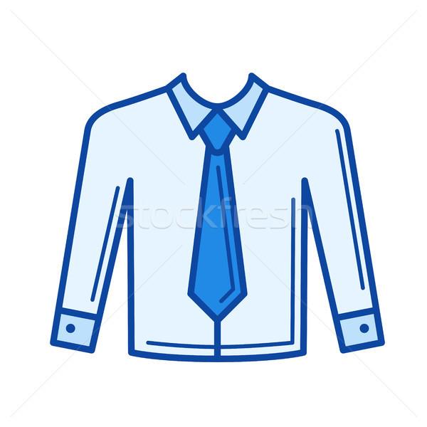 Necktie line icon. Stock photo © RAStudio