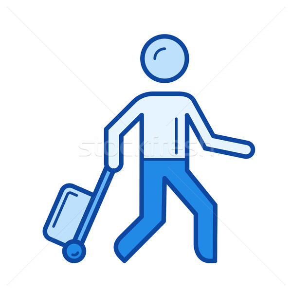 Passenger line icon. Stock photo © RAStudio
