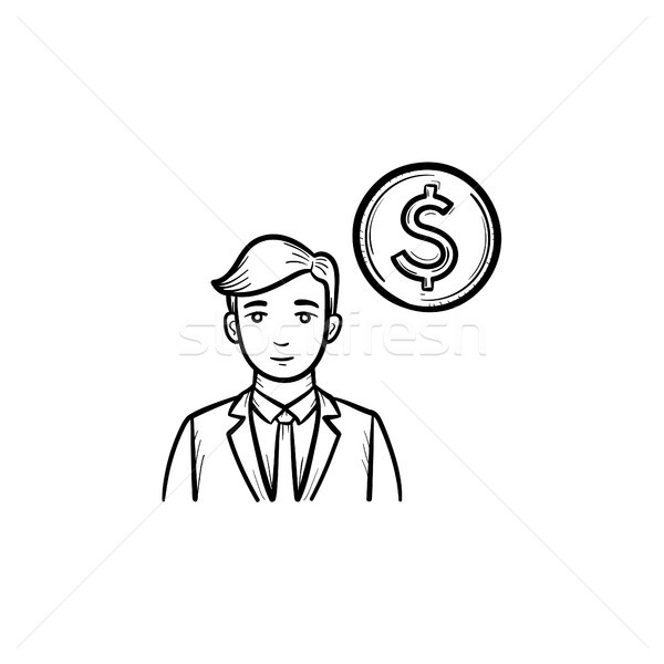 Earning money hand drawn sketch icon. Stock photo © RAStudio