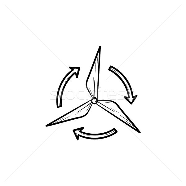 風 ジェネレータ 手描き スケッチ アイコン ストックフォト © RAStudio