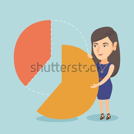 Business woman taking her share of the profits. Stock photo © RAStudio