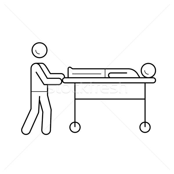 Stretcher line icon. Stock photo © RAStudio
