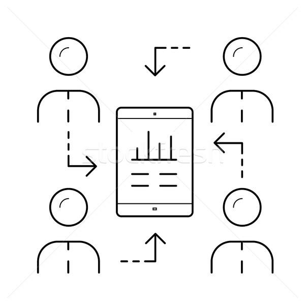 Server synchronization line icon. Stock photo © RAStudio