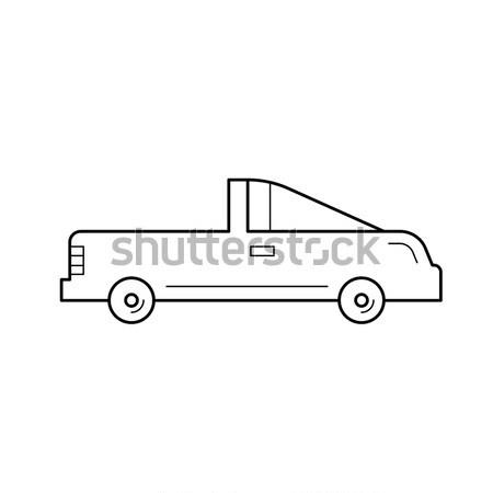 Coupe araba hat ikon vektör yalıtılmış Stok fotoğraf © RAStudio