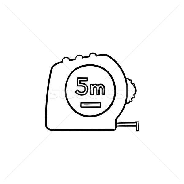 şerit metre kroki ikon karalama Stok fotoğraf © RAStudio