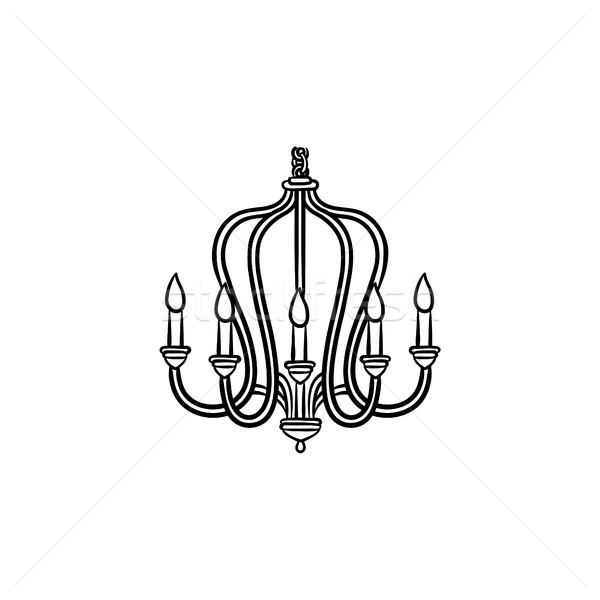 Chandelier hand drawn sketch icon. Stock photo © RAStudio