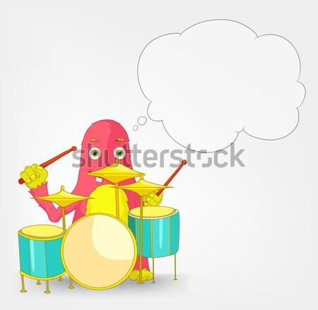 Funny Monster. Drummer. Stock photo © RAStudio