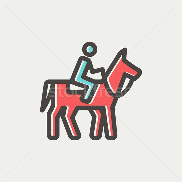 Horse Riding thin line icon Stock photo © RAStudio