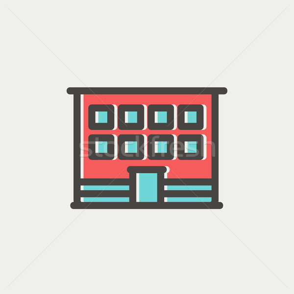 現代 オフィスビル 薄い 行 アイコン ウェブ ストックフォト © RAStudio