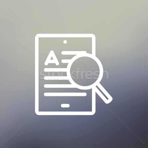 Tablet arama ağ ince hat Stok fotoğraf © RAStudio
