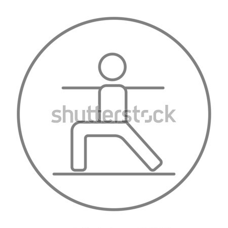 Mother and baby breastfeeding thin line icon Stock photo © RAStudio