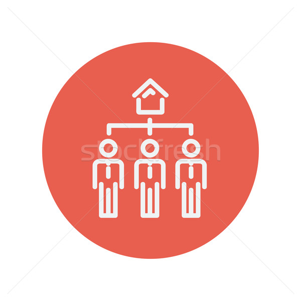 Three real estate in one house thin line icon Stock photo © RAStudio