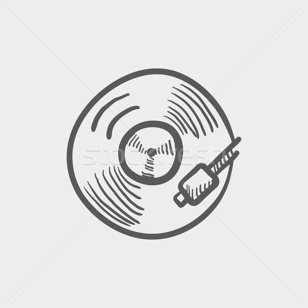 Phonograph turntable sketch icon Stock photo © RAStudio