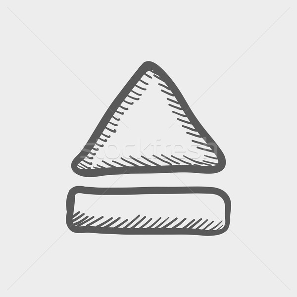 Eject button sketch icon Stock photo © RAStudio