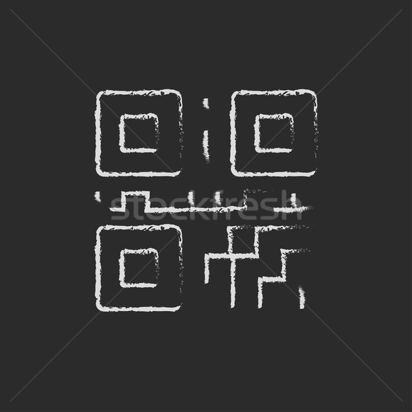 QR code icon drawn in chalk. Stock photo © RAStudio