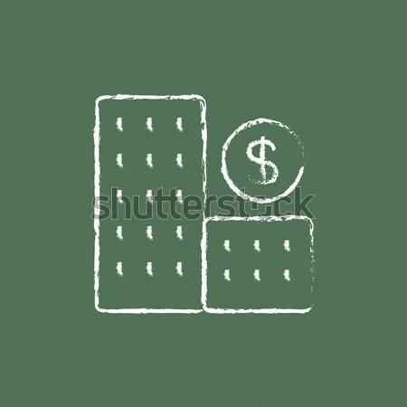 Condominium with dollar symbol icon drawn in chalk. Stock photo © RAStudio