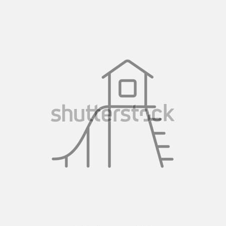 Slide icono tiza dibujado a mano pizarra Foto stock © RAStudio
