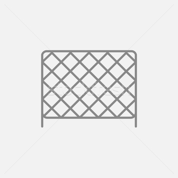 Stock photo: Sports nets line icon.