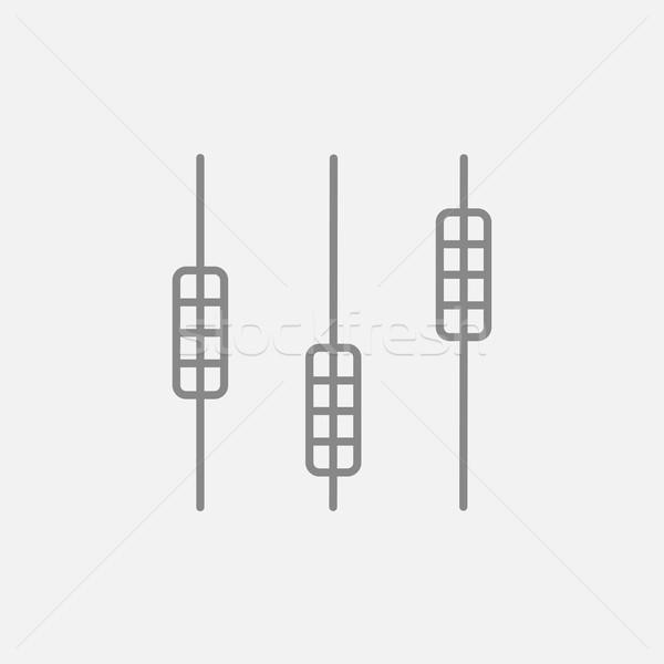 Suono mixer consolare line icona web Foto d'archivio © RAStudio