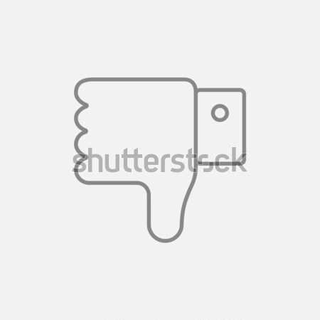 Thumb down hand sign line icon. Stock photo © RAStudio