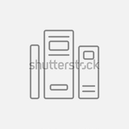 ストックフォト: 図書 · 行 · アイコン · ウェブ · 携帯 · インフォグラフィック