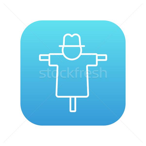 Scarecrow line icon. Stock photo © RAStudio
