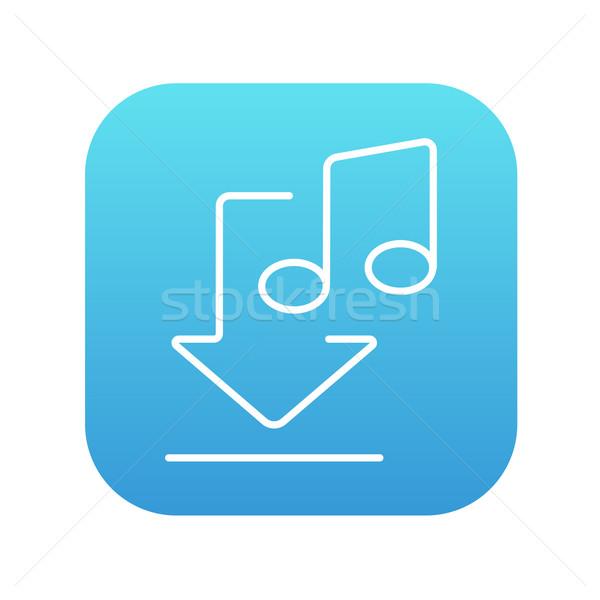 Letöltés zene vonal ikon háló mobil Stock fotó © RAStudio