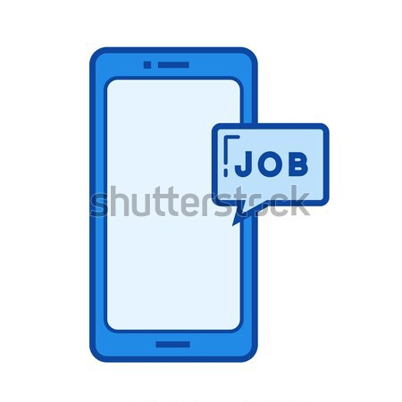 érintőképernyő telefon üzenet vonal ikon háló Stock fotó © RAStudio